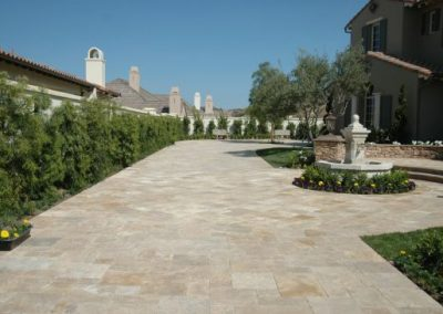 DRIVEWAY TRAVERTINE PAVERS NON SLIP GLEN IRIS MELBOURNE