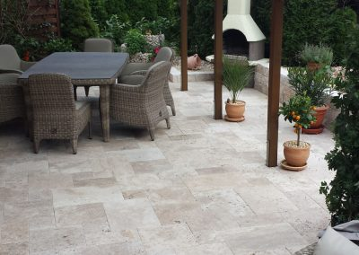 Ivory-travertine-pavers-french-pattern-tiles