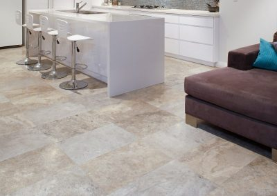Floor Tiles Silver Travertine honed and filled