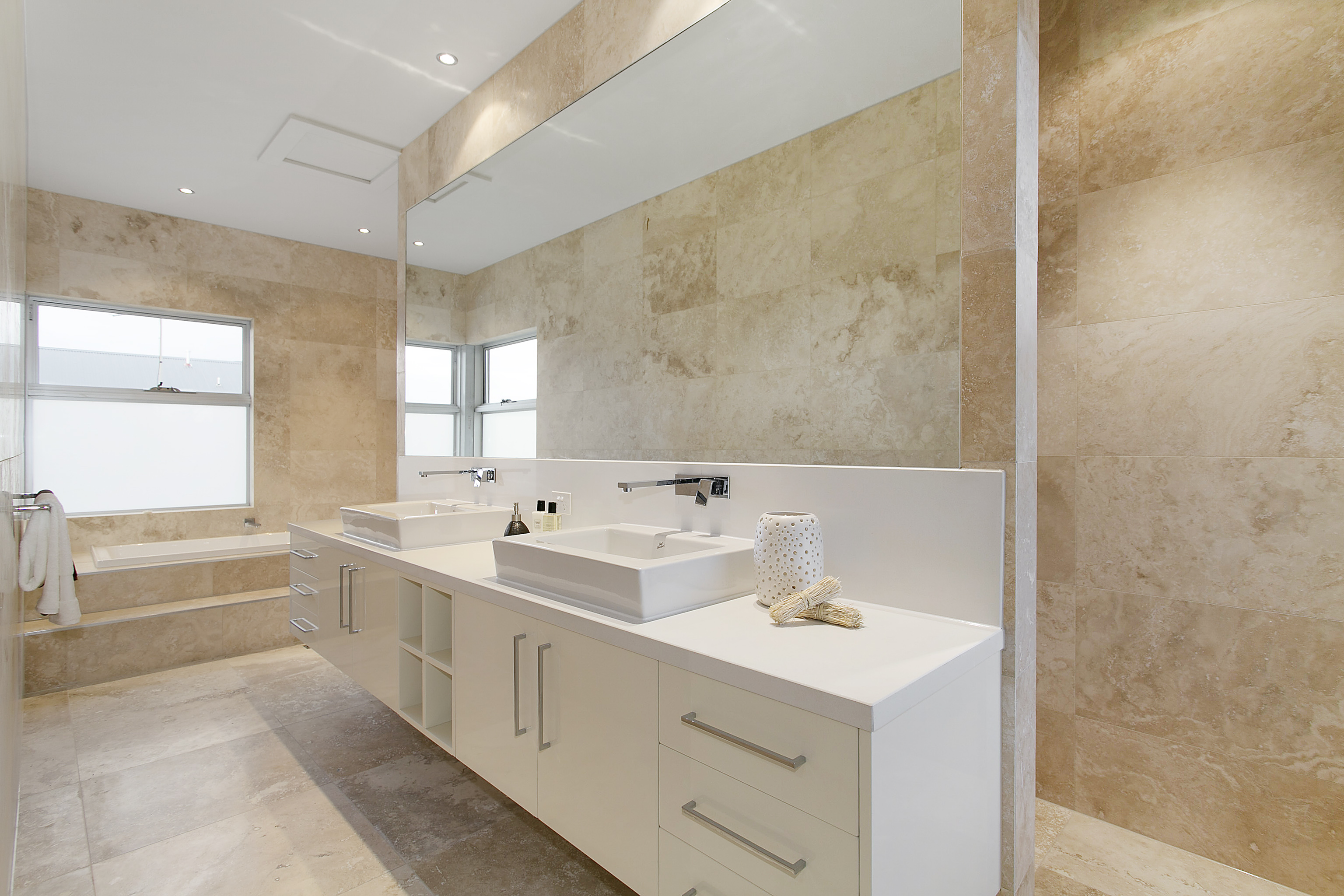 Travertine tiles image gallery istanbul travertine for Tile floors bathroom