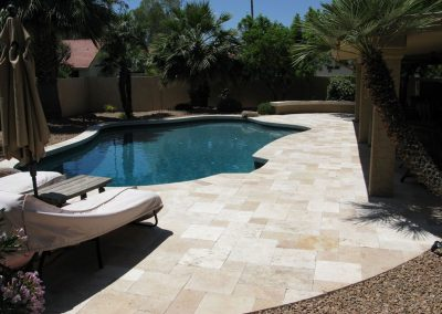 Ivory travertine from Denizli turkey french pattern