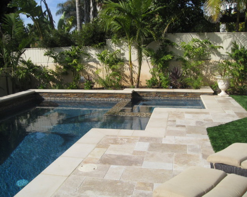 Travertine pavers and tiles french pattern istanbul for Pool design pattern
