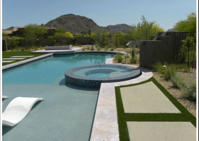 curved travertine pool coping tiles