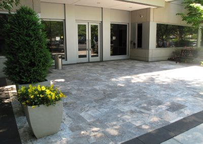 french pattern silver travertine outdoor tiles