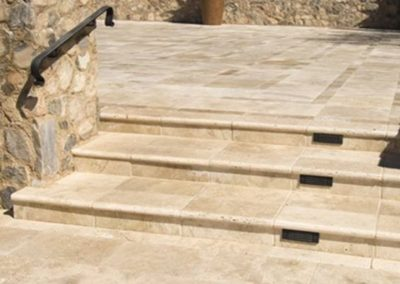 Travertine Step Treads Bullnose