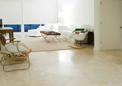 Ivory travertine Floor Tiles Honed and Filled