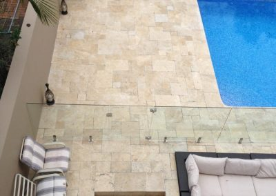 Ivory travertine french pattern tumbled unfilled