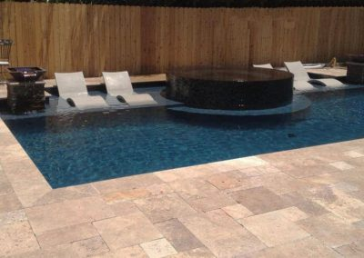 Noce travertine french pattern outdoor tiles