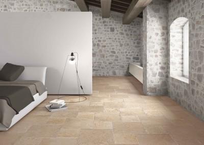 Travertine floor tiles filled and honed.jpg