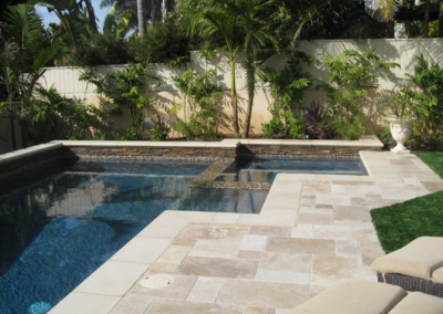 Travertine pavers and tiles french pattern